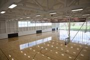 There are six basketball courts in the new student rec center.