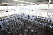 The center includes a 14,000-square-foot exercise area.