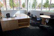 These work spaces also are available to students wanting to study.