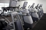 There are 85 pieces of cardiovascular equipment in the exercise area.