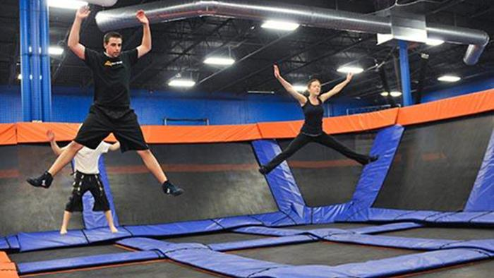 A trampoline park, like this SkyZone's trampoline park, is scheduled to open in Charlotte this fall.