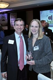 Developer and Harmony Group principal Uri Kaufman with CFO of the Year honoree Denise Williams, CFO of The Harmony Group in Albany, NY.