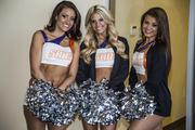 A trio of Phoenix Suns dancers were on hand for the announcement and celebration.