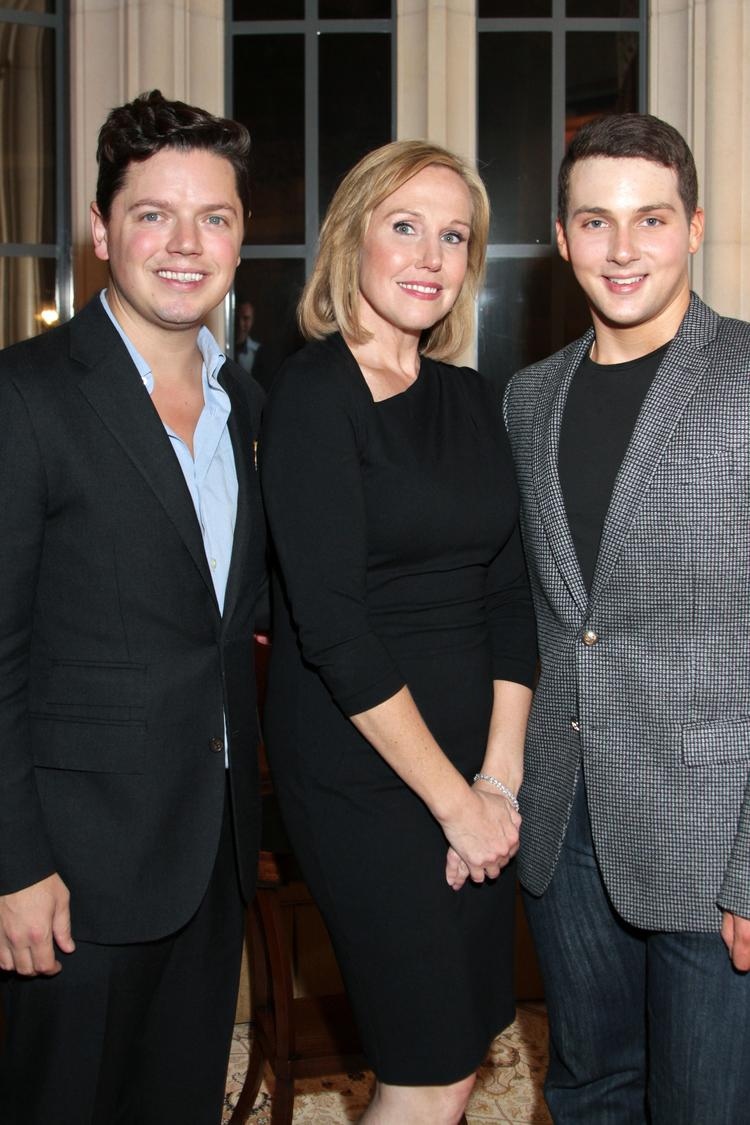 From left, David Peck, Deana Blackburn and Jonathan Tinkle at the Jonathan Blake Spring/Summer 2014 fashion show Oct. 9, which was held at Blackburn's home in River Oaks. Tinkle, 22, is the designer and was named one of HBJ's 2013 40 Under 40.  Click through the slideshow for more photos from the event.