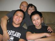 With family in 2011.