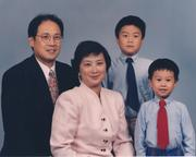 Ryan Yu and family in 1997.