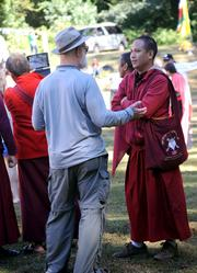 A chat with a Buddhist monk.