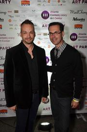 Todd Falconbury and Bill Musso of Musso Design Group, the designer of the VIP area.