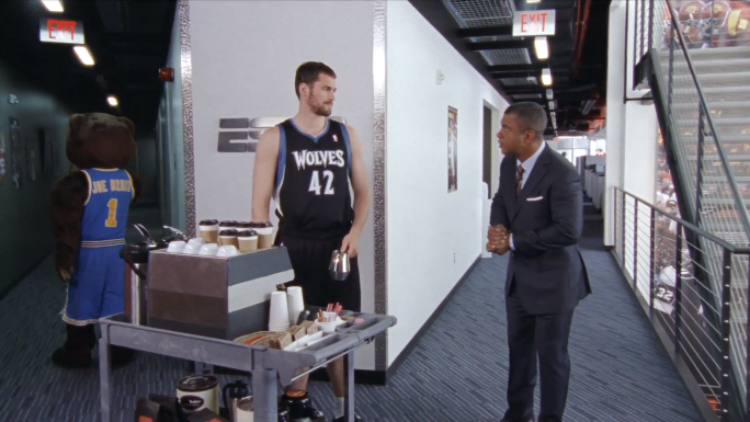 Timberwolves power forward Kevin Love stars in a new ad for ESPN's SportsCenter.
