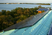 Solar panels on the roof of the home at Melody Key.