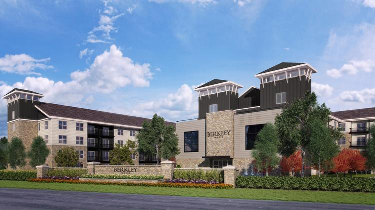 The Berkley House apartments will have 256 units at the corner of Bethel Road and Riverside Drive. Click on the following images for an alternative view of the project and a site map.