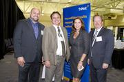 Andy Navarrette, Mark Nava, Becky Johnson and Clay Schmidt of PG&E pose at the SARTA CleanStart/AgStart Showcase.