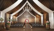 A rendering envisions the interior of the Brodie barn into an elegant space for wedding ceremonies.