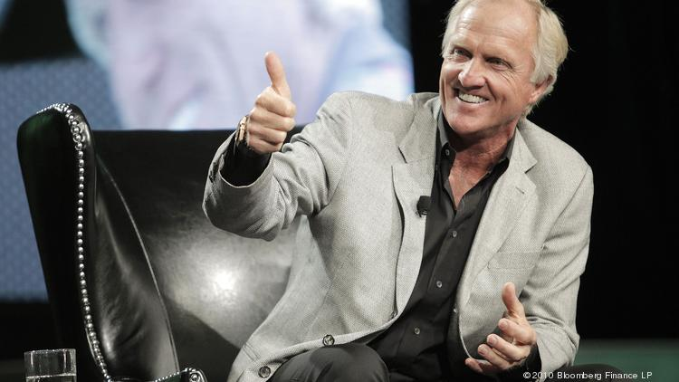 Professional Golfer Greg Norman, chairman and chief executive officer of Great White Shark Enterprises.