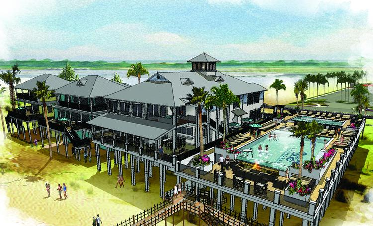 Architecturally inspired by old Galveston, the Club House at Seahorse will offer individual resort-style pools, a fully equipped spa, a family game room, a complete fitness center, bars, and both casual and formal dining options.
