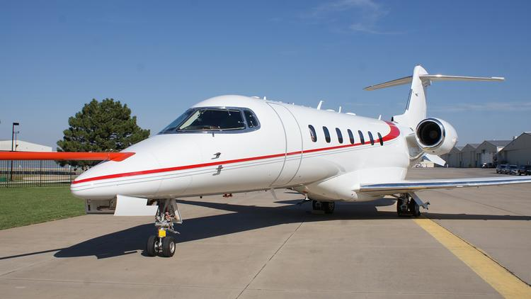 Bombardier displayed in Wichita last week a version of the Learjet 85 that will be used for flight testing.