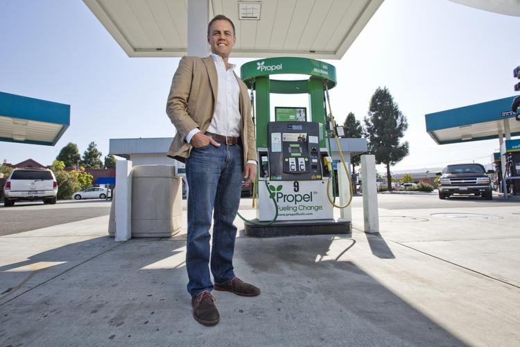 Matt Horton is the CEO of Propel Fuels, a Redwood City company that sells biofuels at independent fuel stations in California and beyond.