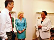 Pollard, far right, with Arne Duncan and Jill Biden.