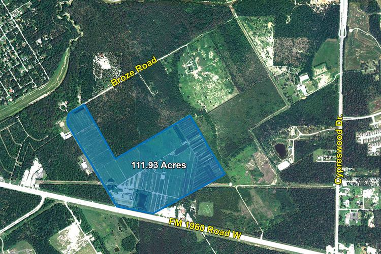 Ligomar LLC and Orinokia Supply LLC bought the 111.93-acre tract at FM 1960 and Broze Road for an undisclosed amount.