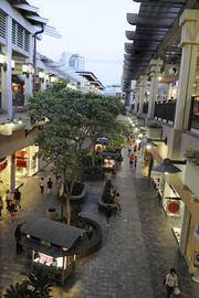 Trees and other plantings add tot he Hawaiian sense of place at Ala Moana Center, the largest open-air mall in the world.