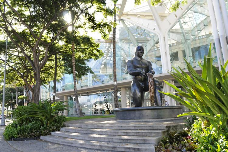Developers cite the Hawaii Convention Center as a good example of using landscaping, even in a tight space, to create an exterior Hawaiian sense of place.