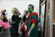 Makeup artists are kept busy creating everything from evil elves to frightening ballerinas.