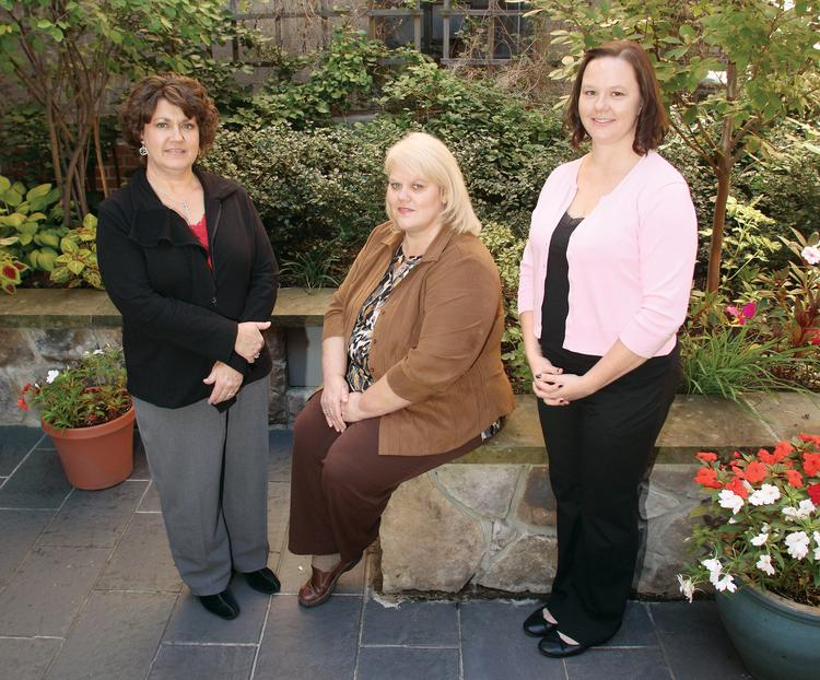 From left, registered nurses Lorrie Just, Lorra Hess and Christina Tew are among the members of The Western Pennsylvania Hospital's AngelHeart Perinatal Bereavement Team.
