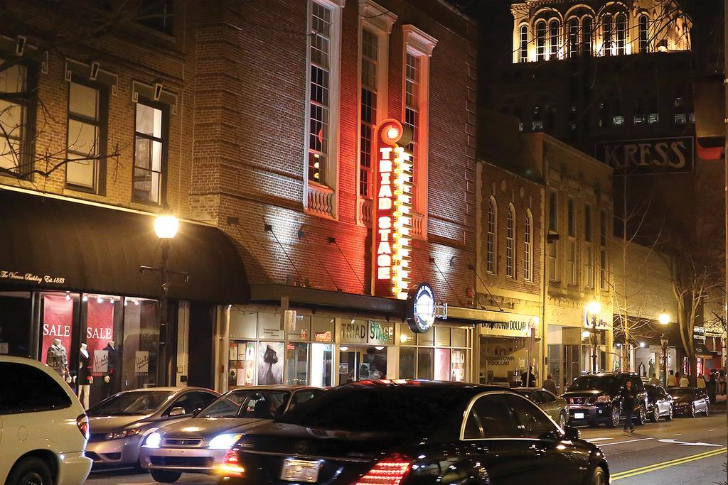 Triad Stage In Downtown Greensboro Pictured Center Will Expand Its Programming To Hanesbrands Theatre