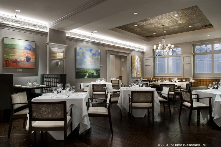 The redesigned dining area of The Gallery Restaurant