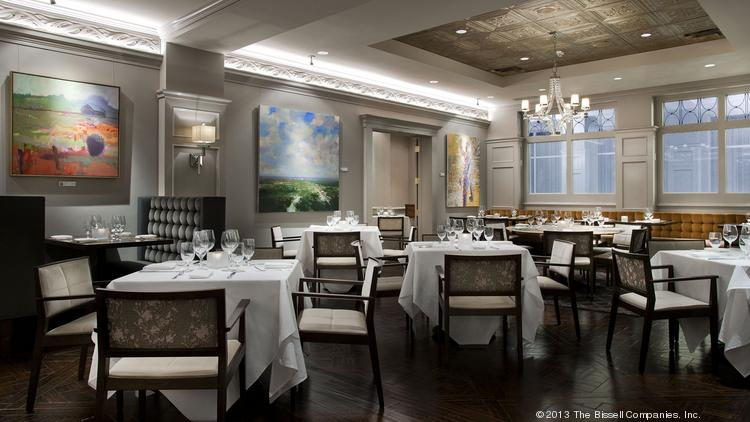 The redesigned dining area of The Gallery Restaurant at The Ballantyne Hotel & Lodge.