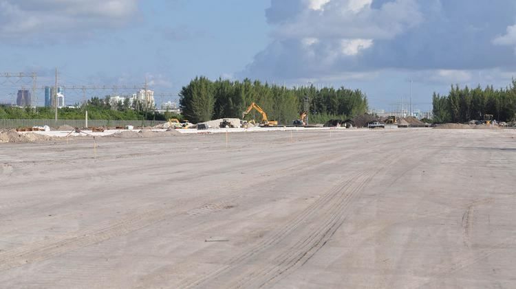 A long shot of the site where the new Port Everglades Railway facility will be located.The $53 million project includes a new domestic and international container transfer operation that is on-site, as opposed to two miles away.