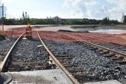 These tracks leading will eventually hook up with the intermodal yard.