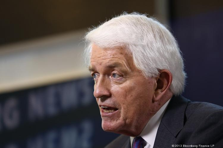 Tom Donohue, president of the U.S. Chamber of Commerce, says his business group will support some Democrats in 2014, but it wants the House to stay under Republican control.