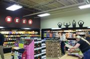 The beer section will include local brews.
