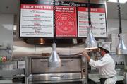 Customers can create pizzas at Lucky's.