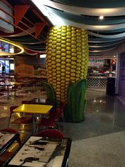 Andrea Pizza (partially visible behind this ear of corn) is the only tenant in the food court will remain open after Oct. 31. That restaurant is working on a deal to move down to the skyway level of the retail center. McDonald's, Subway, Manchu Wok and Kabobs Indian Grill are closing.