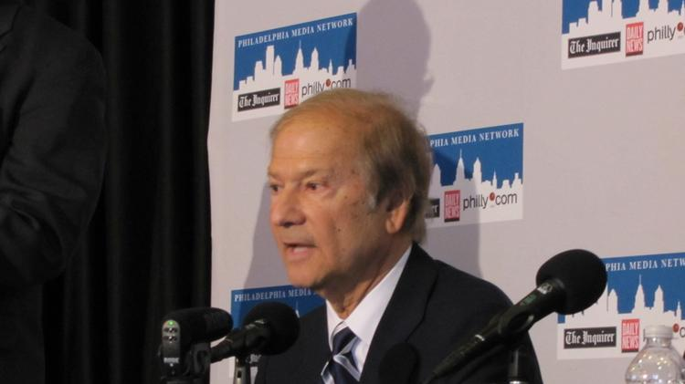 Lewis Katz photographed in April 2012. He died in a plane crash in Massachusetts on Saturday.