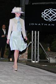 Model wearing pieces from the collection.