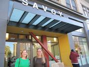 Eve Stewart (left), Satellite's director of housing development, and Susan Friedland, Satellite's executive director, said combining two former hotels into one building allowed for a larger project with better amenities.