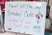A sign just inside the front door announces the flavor of the day.