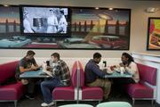 The '50s theme is captured in the decor and in the artwork on the walls.