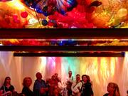 "A view of Dale Chihuly's ""Persian Ceiling"" installation is shown at the Montreal Museum of Fine Arts in Montreal, Canada, on Sept. 5, 2013. Visitors are encouraged to lie on the floor and gaze at the ceiling."