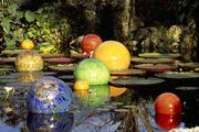 "Dale Chihuly's ""Nijima Floats"" are pictured in this 2004 photo at the New York Botanical Garden."