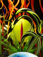 "The glass sculpture ""Mille Fiori"" (detail) by Dale Chihuly was on display at the de Young Museum in San Francisco in 2008."