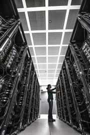 Inside BP's supercomputer, there are more than 100,000 central processing units.