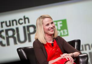 Marissa Meyor speaks at TechCrunch 2013.