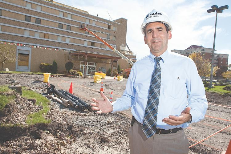 McGuire Development Co. President James Dentinger said the conversion of the former Sheehan Memorial Hospital in Buffalo into the mixed-use Compass East was one of the most ambitious and challenging projects of his career. The initial phase of the $9 million project is expected to be completed this fall.