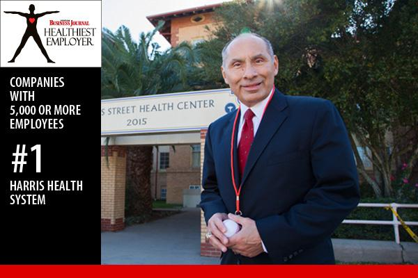 David Lopez, CEO of Harris Health System, runs three to five miles every day.