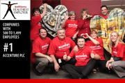 No 1: Accenture Plc.  Score: 98.133 Accenture Houston employees at an American Heart Association event.