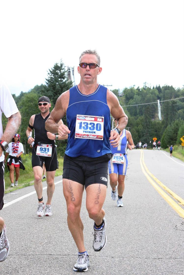 Patrick Chapin in the Lake Placid Ironman
